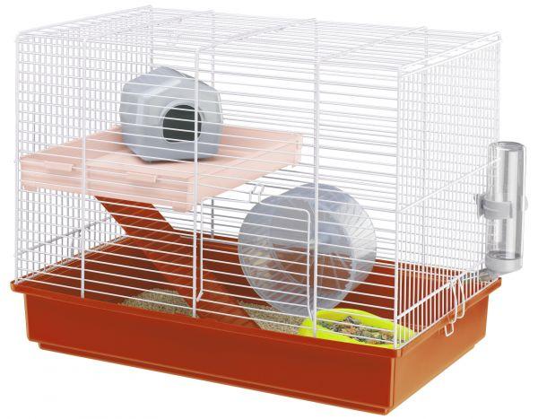 Ferplast hamsterkooi duo wit-oranje