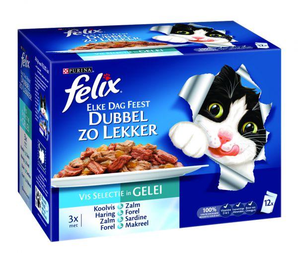 Felix Pouch Elke Dag Feest Double Delicious Vis