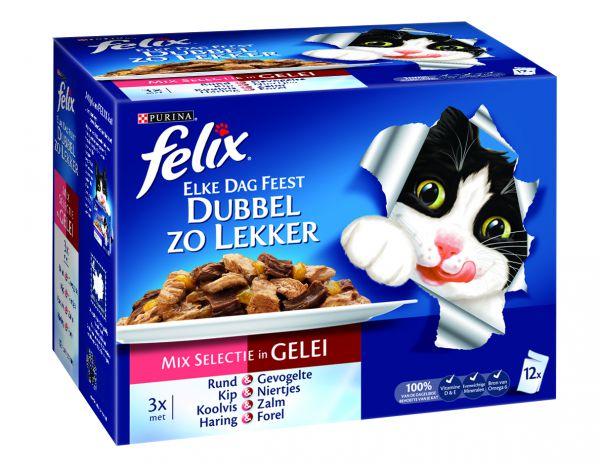 Felix Pouch Elke Dag Feest Double Delicious Mix