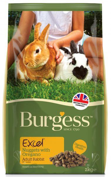 2 kg Burgess excel rabbit adult oregano konijnenvoer