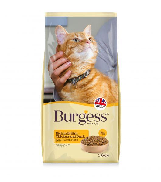 Burgess cat adult rijk aan kip en eend