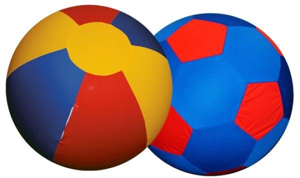 Speelgoed paard Jolly Mega Ball hoes rood blauw geel 100cm Jolly Pets (SALE)