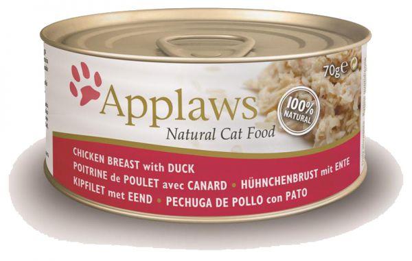 APPLAWS CAT BLIK ADULT CHICKEN-DUCK KATTENVOER #95;_70 GR