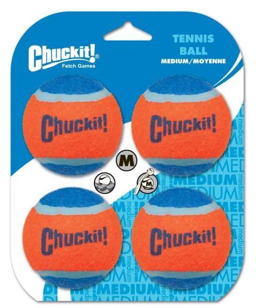 Voordeelset tennisbal hond medium 4 stuks Chuckit