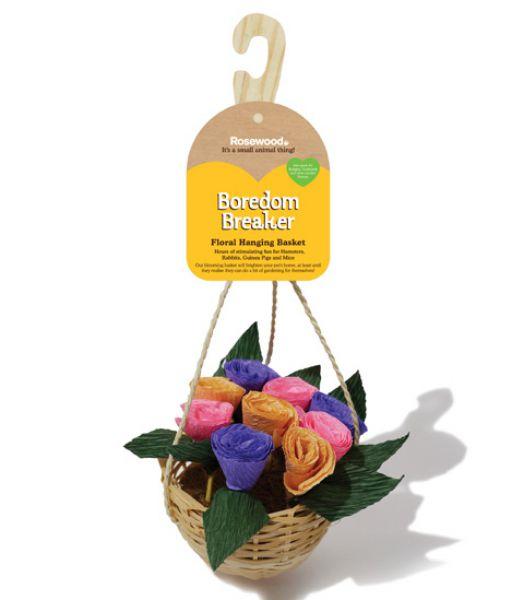 Rosewood floral hanging basket 12x12x30 cm