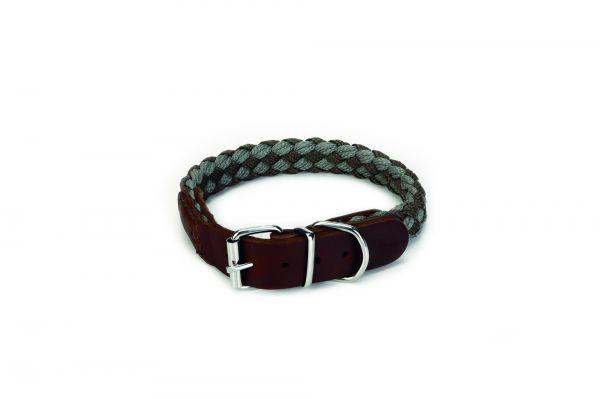 Beeztees Beeztees halsband voor hond korda nylon grijs lichtgrijs 55x2 cm