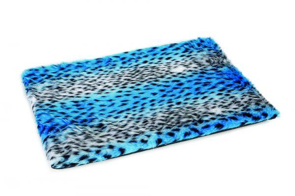 Beeztees hondenkussen teddy bench luipaard blauw slechts u ac