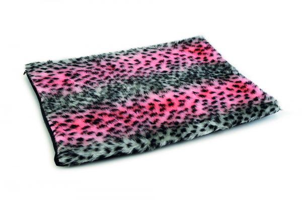Beeztees hondenkussen teddy bench luipaard roze slechts u ac