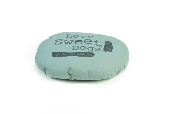 beeztees hondenkussen sweet dogs ovaal grijs #95;_56x42 cm