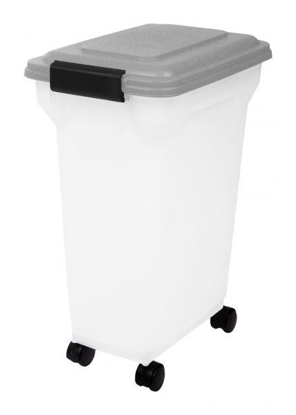 Afbeelding Bewaarcontainer luchtdicht transparant / grijs 20 ltr