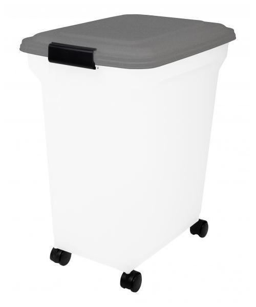 Afbeelding Bewaarcontainer luchtdicht transparant / grijs 45 ltr