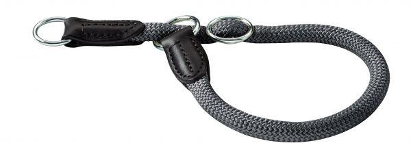 Afbeelding Hunter halsband voor hond freestyle met stop grijs 35 cmx8 mm door Tims.nl