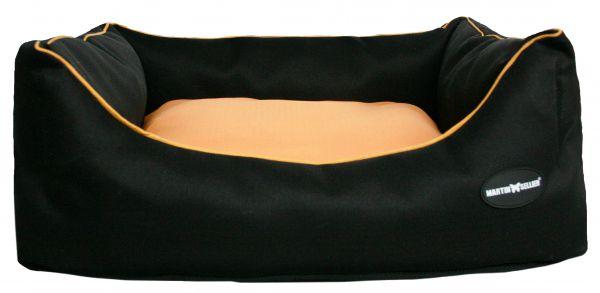 hondenmand waterproof zwart / oranje #95;_85x110 cm