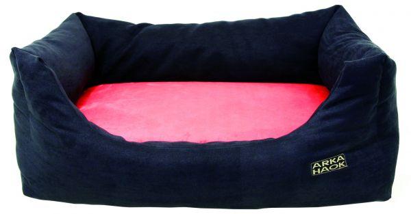 hondenmand domino memory foam zwart / rood #95;_70x55x25 cm