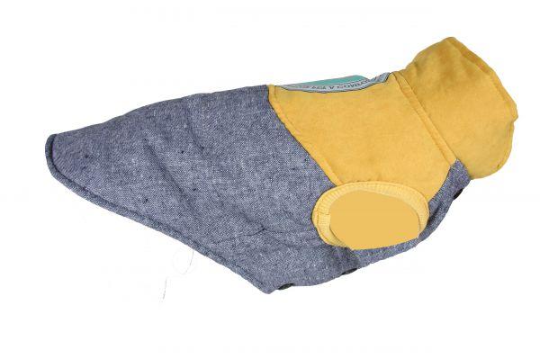 Hondenjas outdoor grijs / geel Small