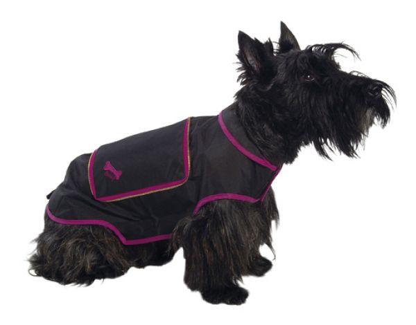 Bobby hondenjas regenjas pocket zwart 36-41x28 cm