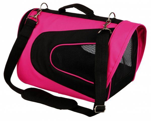 trixie hondentas alina roze / zwart #95;_22x23x35 cm
