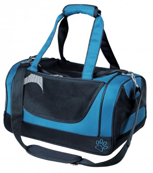 trixie hondentas jacob blauw / zwart #95;_27x23x42 cm