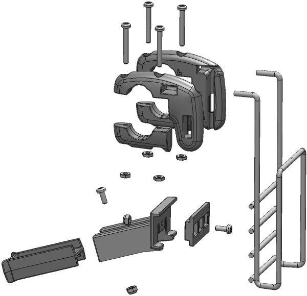 trixie houder voor fietsmand voorop #95;_