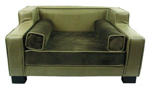 enchanted hondenmand sofa lincoln grijs / bruin #95;_78x63,5x41 cm