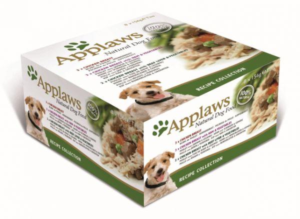 8x156 gr Applaws dog blik multipack recipi selectie hondenvoer Applaws