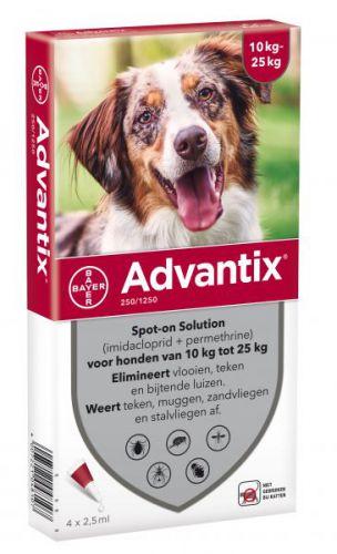 Bayer advantix spot on 250 1250 10 25 kg 4 pip Advantix
