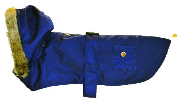 Buster&beau hondenjas camden parka blauw 35,5-43 cm