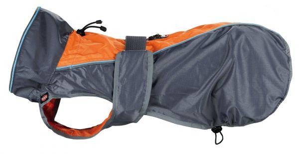 Trixie regenjas hond solid grijs / oranje 45 cm