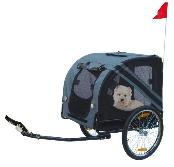 karlie fietskar doggy liner economy grijs/zwart #95;_125x95x72 cm
