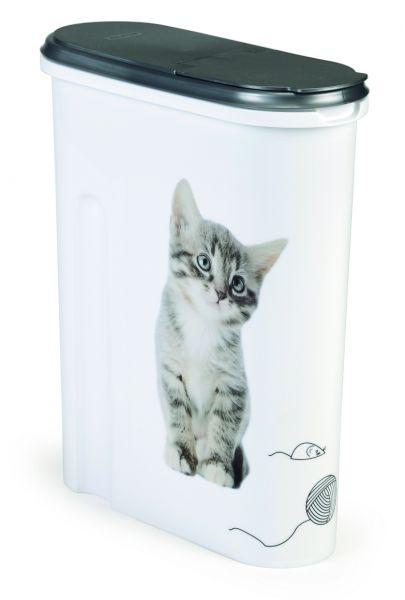 Curver voedselcontainer opdruk kat wit-zilver
