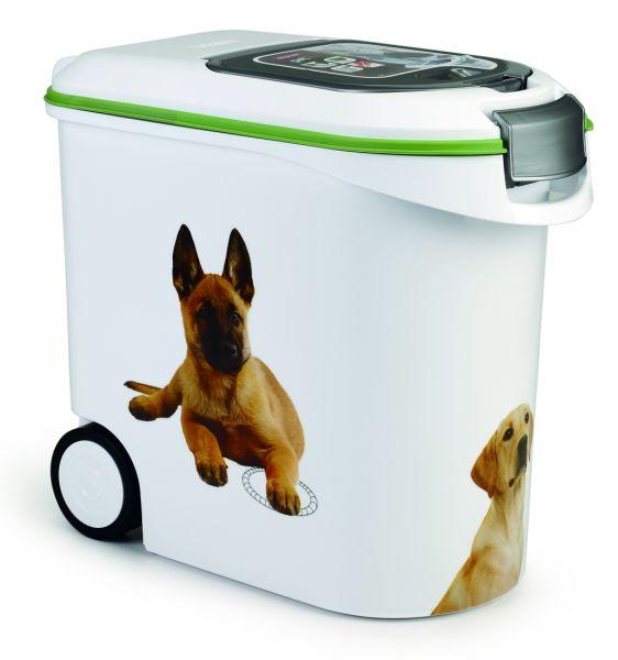 Curver 12 kg 31 liter voedselcontainer opdruk hond wit-groen