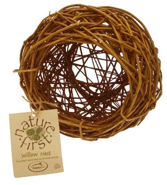 Afbeelding Nature First Willow Nest - Kooi Accessoire - 21x21x21 cm Naturel