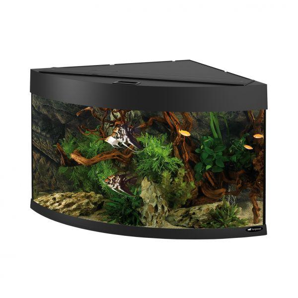 Ferplast aquarium dubai 90 corner zwart