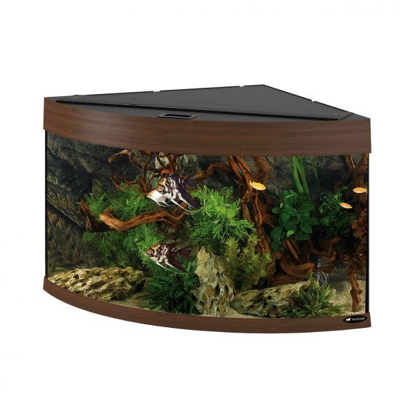 Ferplast aquarium dubai 90 corner walnoot
