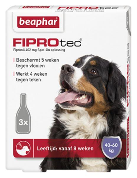 Beaphar 40-60 kg 3 pip fiprodog tegen teken en vlooien