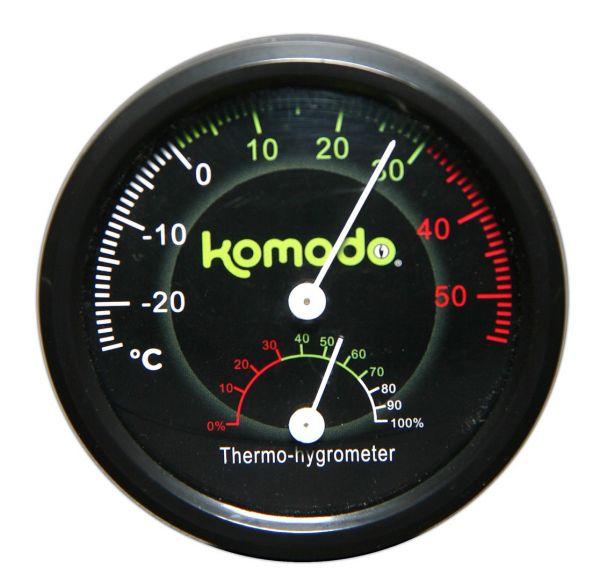 Afbeelding Komodo thermometer/hygrometer analoog 8 cm