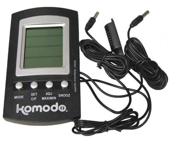 Afbeelding Komodo thermometer/hygrometer digitaal