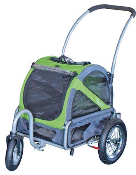 doggy ride buggy mini groen/grijs #95;_110x90x65 cm