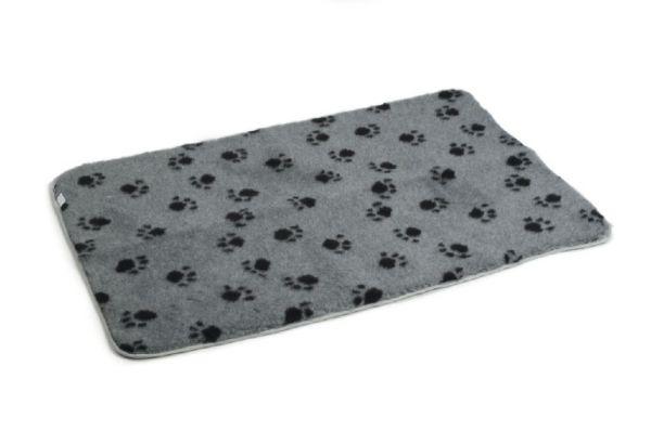 vetbed bench voetprint grijs #95;_109x69 cm