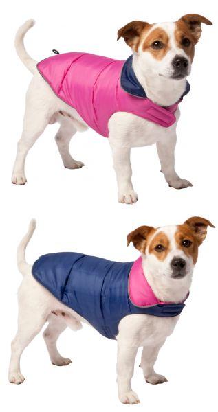Hondenjas dubbelzijdig blauw, roze 40cm Adori